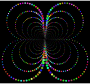 Prismatic Abstract Circles Butterfly