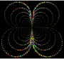 Prismatic Abstract Circles Butterfly 3