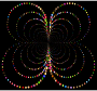 Prismatic Abstract Circles Butterfly 4