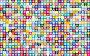 Prismatic Alternating Hearts Pattern Background 4 No Black Background