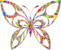 Polyprismatic Magma Tribal Butterfly Silhouette