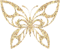 Gold Tiled Tribal Butterfly Silhouette