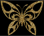 Gold Tiled Tribal Butterfly Silhouette Variation 2