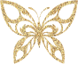 Gold Tiled Tribal Butterfly Silhouette Variation 2 No Background