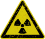 Grungy radiation warning sign