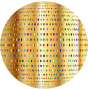 Gold Polka Dots Sphere