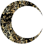 Gold Floral Crescent Moon Mark II 5