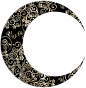 Gold Floral Crescent Moon Mark II 12