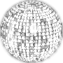 Glimmering Disco Ball Enhanced 4 No Background