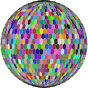 Prismatic Hexagonal Grid Sphere Variation 2 With Strokes
