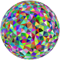 Prismatic Low Poly Sphere