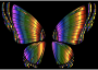 RGB Butterfly Silhouette 10 7