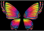 RGB Butterfly Silhouette 10 8