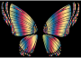 RGB Butterfly Silhouette 10 16