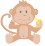 Cartoon monkey without background