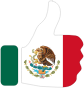 Thumbs Up Mexico With Stroke