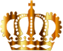 Gold Royal Crown Silhouette No Background