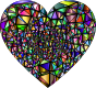 Low Poly Shattered Chromatic Heart With Background