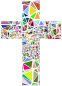 Low Poly Stained Glass Cross