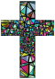 Low Poly Stained Glass Cross 3