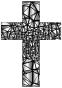 Low Poly Stained Glass Cross 4