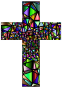 Low Poly Stained Glass Cross 5