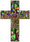 Low Poly Stained Glass Cross 5 Variation 2