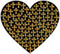 Love Heart Crosses Gold