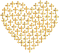 Love Heart Crosses Gold No Background