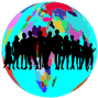 Colorful World Globe Human Family