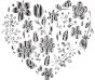 Grayscale Floral Heart 2 No Background
