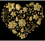 Gold Floral Heart