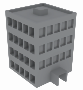 Vectorized building with shading