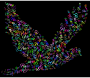 Prismatic Flying Peace Dove Typography