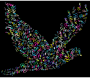Prismatic Flying Peace Dove Typography 3