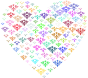 Prismatic Damask Heart No Background