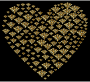Gold Damask Heart