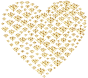 Gold Damask Heart No Background