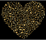 Gold Musical Heart 4