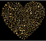 Gold Musical Heart 4 2