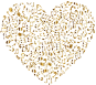 Gold Musical Heart 4 2 No Background