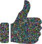 Polyprismatic Tiled Thumbs Up With Background