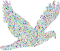 Polyprismatic Tiled Flying Dove Silhouette