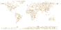 Gold Musical World Map No Background