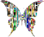 Prismatic Abstract Modern Art Butterfly 9