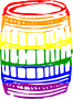 Rainbow barrel