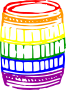 Colourful firkin />