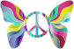Groovy Peace Sign Butterfly 5