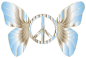 Groovy Peace Sign Butterfly 12