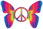 Groovy Peace Sign Butterfly 14